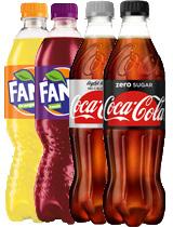 Fanta Orange/ Cassis/ Coca-Cola Light/ Zero