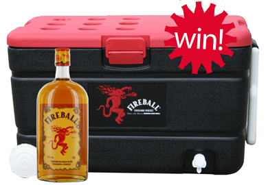 Mail ons! - Fireball Cinnamon Whiskey / fles 0,70L