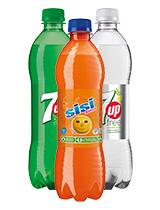 Seven Up Free/ Lemon Lime/ Sisi Orange reg.