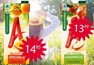 Bestel nu! - Appelsientje Sinaasappel Prof./ Goudappel Prof. / tray 8x1,50L
