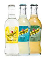 Schweppes Bitter Lemon/ Ginger Ale/ Tonic